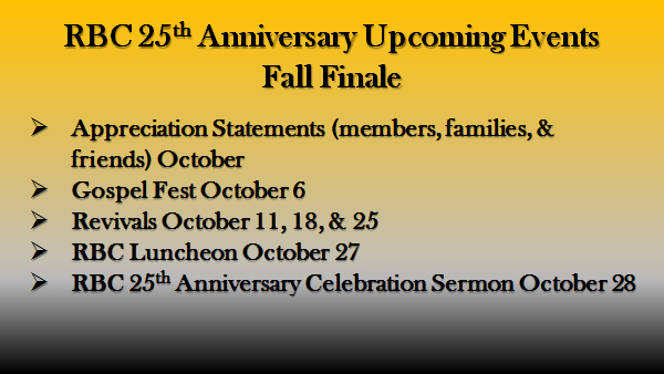 List of Fall Events