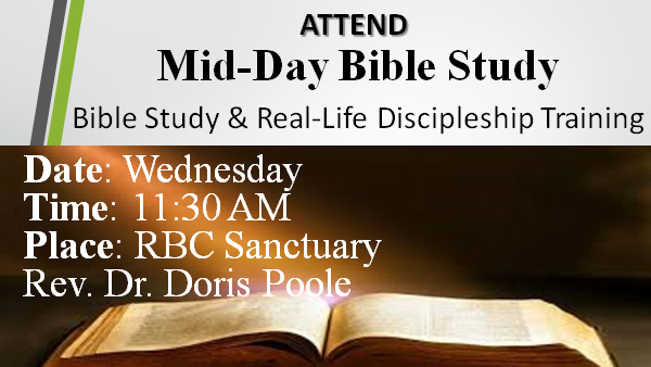 Mid-Day Bible Study Wednesday at 11:30
