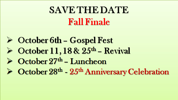 save the date fall 2018 listing of events