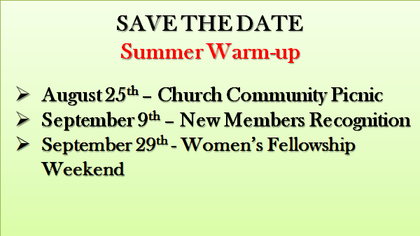 save the date summer 2018 listing of events